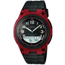 Relógio Masculino Casio AW-80-4BVDF - Anadigi com Cronômetro e Calendário