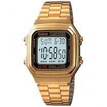 Relógio Masculino Casio Digital Casual Vintage A178WGA-1ADF - Casio