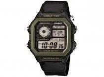 Relógio Masculino Casio Digital - Resistente à Água AE-1200WHB-1BVDF