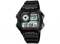 Relógio Masculino Casio Digital - Resistente à Água Cronômetro AE-1200WH-1A