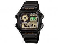 Relógio Masculino Casio Digital - Resistente à Água Cronômetro AE-1200WH-1BVDF