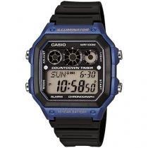 Relógio Masculino Casio Digital - Resistente à Água Cronômetro AE-1300WH-2AVDF