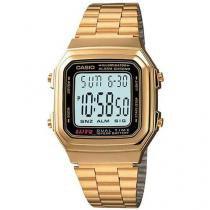 Relógio Masculino Casio Mundial A 178WGA 1ADF - Digital Resistente a Água Cronógrafo