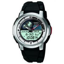 Relógio Masculino Casio Mundial AQF 102W 7BV - Analógico e Digital Resistente á Água