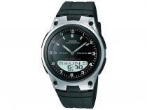 Relógio Masculino Casio Mundial AW-80-1AVDF - Anadigi Resistente à Água