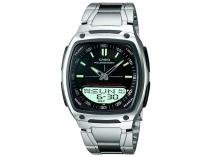 Relógio Masculino Casio Mundial AW-81D-1AVDF - Anadigi Resistente á Água com Cronômetro