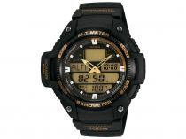 Relógio Masculino Casio SGW-400H-1B2VDR - Anadigi Resistente à Água Cronômetro Calendário