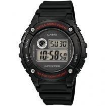 Relógio Masculino Casio W-216H-1AVDF - Digital Resitente à Água com Calendário