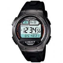 Relógio Masculino Casio W-734-1AV Digital - Resistente à Água com Cronômetro