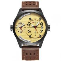 Relógio masculino curren analógico 8252 bege