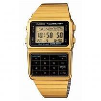 Relógio masculino digital casio dbc611g1df - dourado - Casio