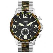 Relógio Masculino Fossil Analógico - Resistente à Água Cronógrafo JR1498/1PN