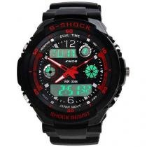 Relógio Masculino Kikos RK02 Anadigi - Resistente à Água com Alarme e Calendário