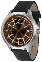 Relógio masculino lince pulseira de couro marrom mrc4358s n2px - Lince