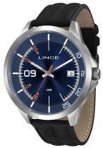 Relógio masculino lince pulseira de couro marrom mrc4361s d2px - Lince