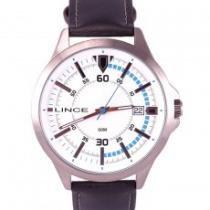 Relógio masculino lince pulseira de couro mrc4358s b2pb - Lince