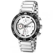 Relogio masculino magnum analogico com cronografo - ma32541q - prata/branco - Magnum