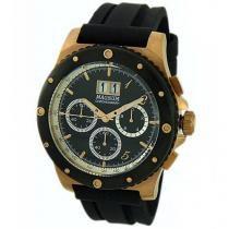Relógio Masculino Magnum MA33746P - Analógico Resistente à Água Cronógrafo Calendário