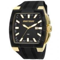Relógio Masculino Mormaii MO2115AD/8P Dourado Pulseira Borracha - Mormaii