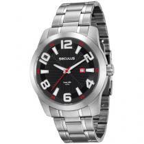 Relógio Masculino Seculus Analógico - Resistente à Água Long Life 20497G0SVNA2