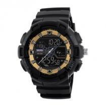 Relógio Masculino Skmei Anadigi 1189 Dourado -