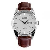 Relógio masculino skmei analógico 9073 marrom - Skmei
