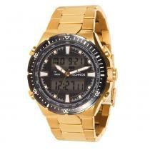 Relógio Masculino Technos Analógico 0527AB/4P - Dourado - Único -