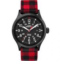 Relogio Masculino Timex Expedition - Tw4b02000ww/N - Preto/Vermelho - Timex