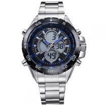 1f12f8f4783 Relógio Masculino Weide Anadigi WH-1103 Azul -