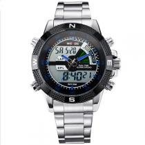 Relógio Masculino Weide Anadigi WH-1104 Azul -