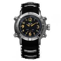 Relógio Masculino Weide Anadigi WH-1106 Amarelo -