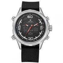 Relógio Masculino Weide Anadigi WH-6306 Prata -