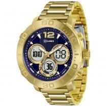 0da3cd0980d Relógio Masculino X-games Anadigi Xmgsa002 D2kx Dourado -