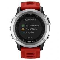 Relógio Monitor Cardíaco Garmin Multiesporte - Fenix 3 Bundle Resistente à Água