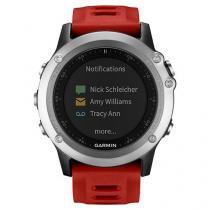 Relógio Monitor Cardíaco Garmin Multiesporte - Fenix 3 Resistente à Água