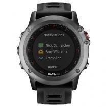 Relógio Monitor Cardíaco Multiesporte Garmin - Fenix 3 Bundle Resistente à Água 010-01338-11
