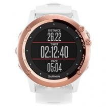 Relógio Monitor Cardíaco Multiesporte Garmin - Fenix Saphira Resistente à Água 010-01338-51