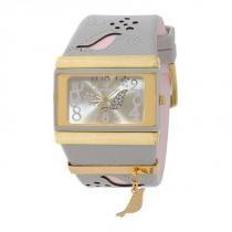 Relógio Mormaii  analógico Pássaro cinza e rosa dourado 2035AAU 8C - Mormaii