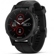 Relógio Multiesportivo Garmin Fenix 5S Plus Safira Preto com Monitor Cardíaco no Pulso -