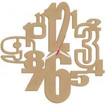 Relógio números corte a laser em mdf cia laser - 1657 - Mad. cia laser