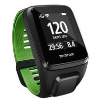 Relógio Runner 3 Cardio com GPS à Prova dágua Bluetooth - Preto e Verde - TOMTOM