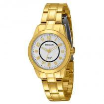 Relógio Seculus Feminino Long Life - 28327LPSBDA1 -