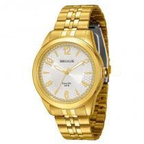 Relógio Seculus Feminino Long Life - 28513LPSVDA1 -