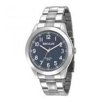85a1881eda4 Relógio Seculus Masculino Ref  28937g0svna2 Casual Prateado -