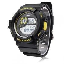 Relógio Skmei Digital 0939 Preto e Amarelo -