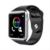 Relógio Smartwatch Android, Notificações Whatsapp, Bluetooth, Camera - Prata - Mega page