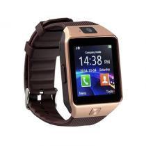 Relogio smartwatch chip dz09 - dourado - Importado