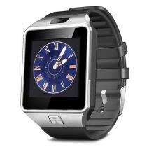Relogio Smartwatch Dz09 Touch Bluetooth Prata - Mega page