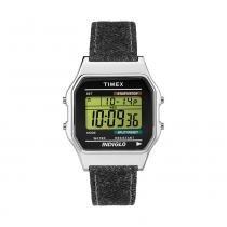 Relógio Timex Digital Heritage Pulseira de couro e jeans - Timex