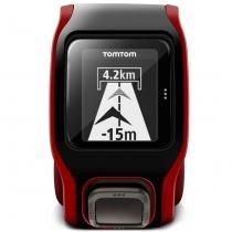 Relogio Tomtom Multi Sport Preto E Vermelho GPS Corrida Cardíaco - Tomtom